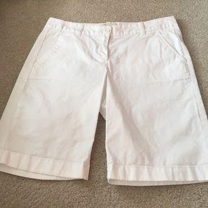 J.crew Bermuda Shorts- white