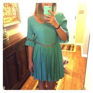 Light Blue Peasant Dress- Altar'd State