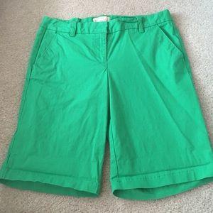 J.crew Bermuda shorts- green