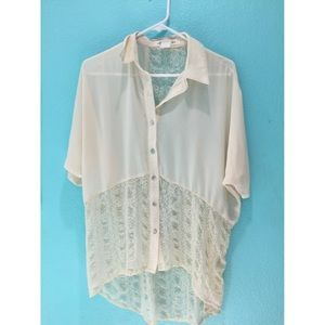 Gorgeous chiffon and lace tunic