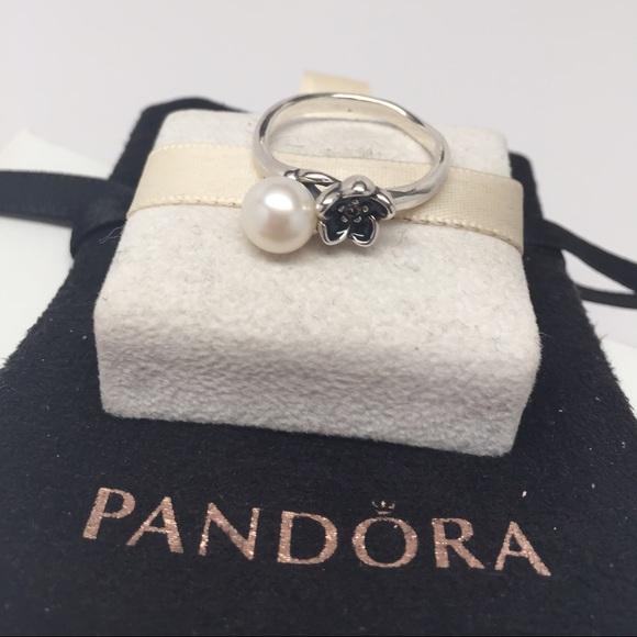 5f6664d95 ... canada pandora mystic floral pearl ring size 7 a75f1 b6d1d ...