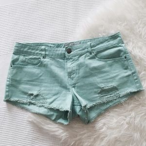 Zara Denim - Zara Minty Denim Shorts