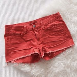 J Brand Denim - J Brand Orange Denim Shorts