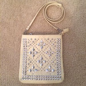 Handbags - Studded Tan Cross Body Bag