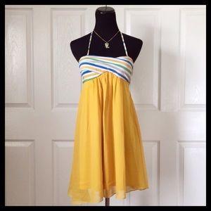 {Charlotte Russe} Yellow Halter Dress