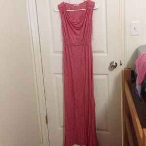 Sophie max, red, maxi dress