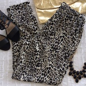 Forever 21 leopard harem pants