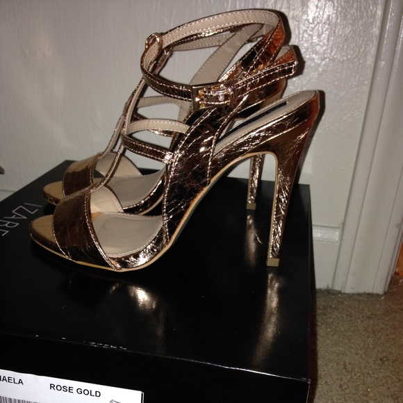 84% off Shoe Dazzle Shoes - Beautiful rose gold colored heels from