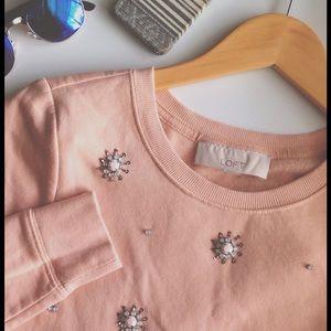 Iconic Loft pink embellished pullover