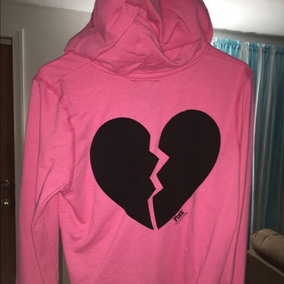 quality incredible prices later PINK Victoria's Secret Tops | Vs Pink Broken Heart Hoodie Size ...