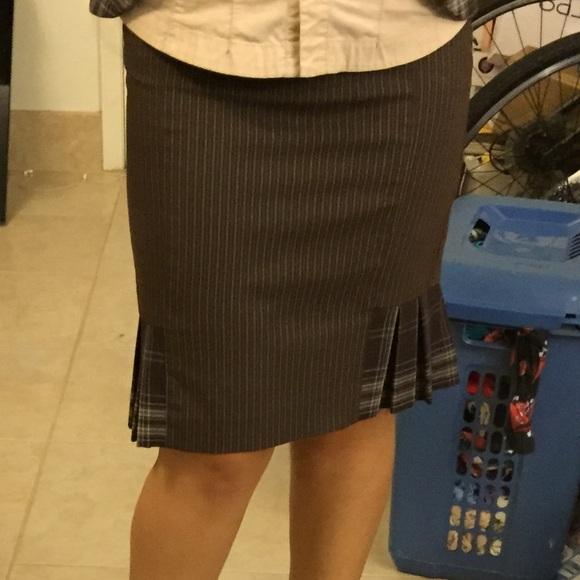 61 off bebe dresses skirts bebe pinstripe plaid. Black Bedroom Furniture Sets. Home Design Ideas