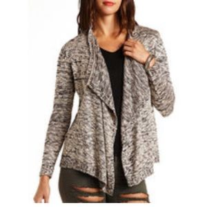 New Charlotte Russe black tan marbled cardigan s