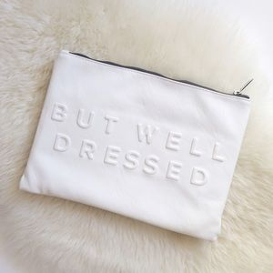Zara Stressed But Well Dressed White Clutch