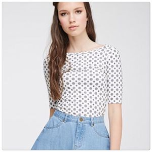 🆕 Forever 21 scoop knit print top