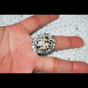 handmade & handcrafted gemstone jewelry Jewelry - Dalmation Jasper Statement Ring Size 10