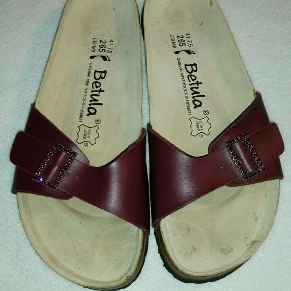 baca01ff07bb32 Birkenstock Shoes - 10 New BIRKENSTOCK BETULA rhinestone slide sandals