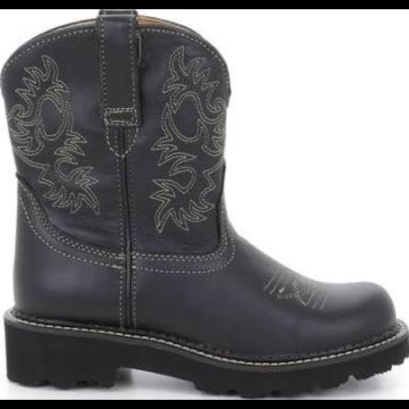 Ariat Boots Black Leather Fatbaby