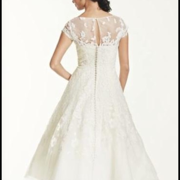 38 off oleg cassini dresses skirts oleg cassini size for Oleg cassini wedding dress tea length