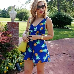 Dresses & Skirts - Pineapple Print Romper