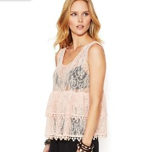 NEW!  Free People 'Daydream' tiered lace tank