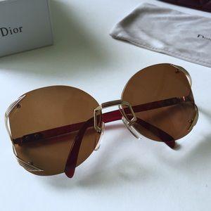 Rare Vintage Rimless Christian Dior Sunglasses