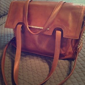 Elaine Turner Tan Leather Satchel