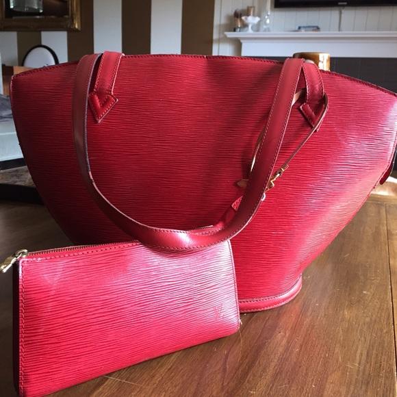 78121ab8 Louis Vuitton Red Epi Leather St Jacques Bag