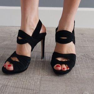 Zara Shoes - Zara high heel black leather sandals