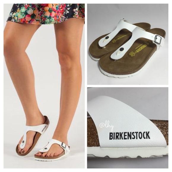 Birkenstock Gizeh Leather Sandals White