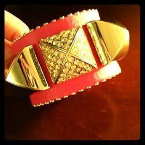 Juicy Couture Leather pyramid bracelet