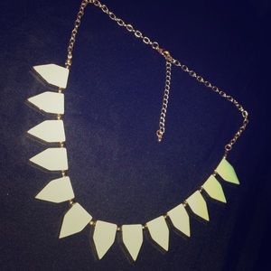 """Mint to be"" triangle statement necklace! "