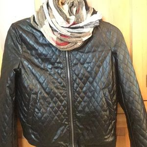 Beautiful leather like quilted baseball style coat