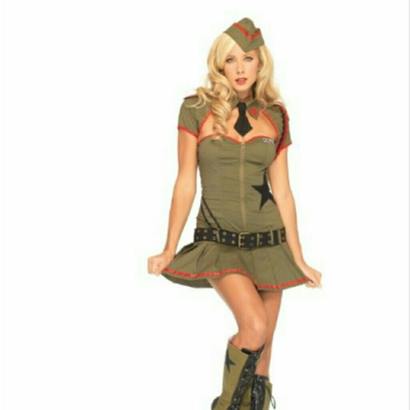 Army pinup girl Halloween costume  sc 1 st  Poshmark : army pin up costume  - Germanpascual.Com