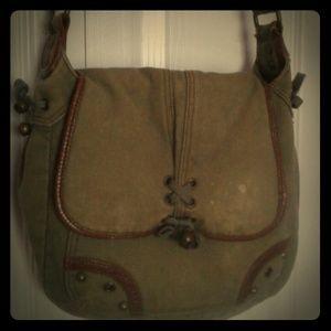 Rugged grunge messenger bag