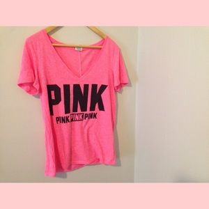 64% off PINK Victoria's Secret Tops - Pink VS T-shirt from ...