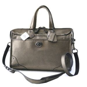 Coach Rhyder 33739 Metallic Leather Satchel NWT