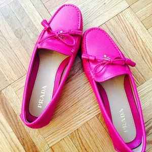 51% off Prada Shoes - Almost new Prada loafers in hot pink from ...