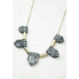 F21 | NWT Faux Marble Stone Longline Necklace