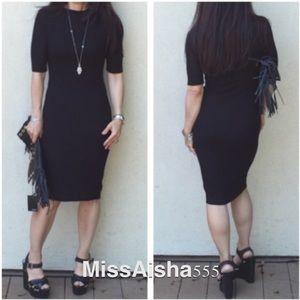 Black stunning midi dress