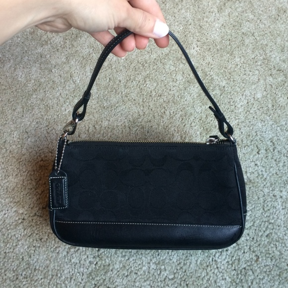 Black small Coach purse