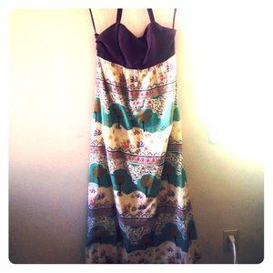 Anthropologie Maxi Halter Summer Dress