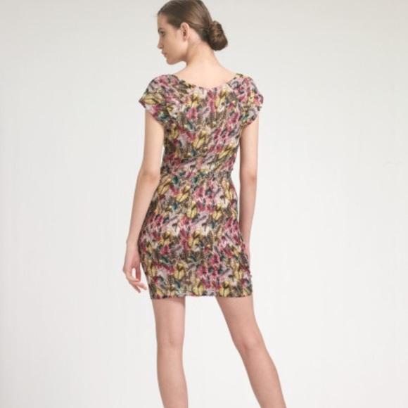 Anthropologie - Leifsdottir Pink Feather Fiesta Dress from ...