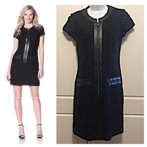 Andrew Marc Dresses & Skirts - Marc NY Black Eyelet & Faux Leather Dress