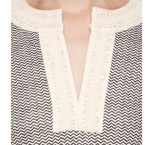 Tory Burch Tops - Tory Burch 'Selda' Embellished Linen Tee