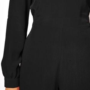 1ae90d1987d ASOS Pants - ASOS Simple Jumpsuit w  Long Sleeves - BLACK