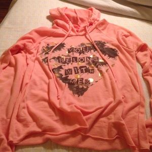 Tops - Light weight peachy pink hoodie.