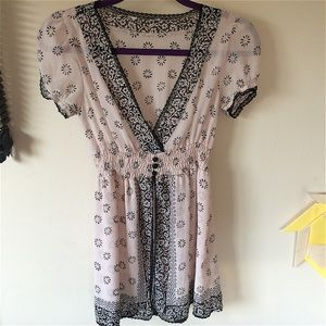 Sheer Chiffon and Lace Top