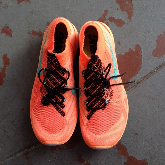 nike free 3.0 flyknit orange red lipstick