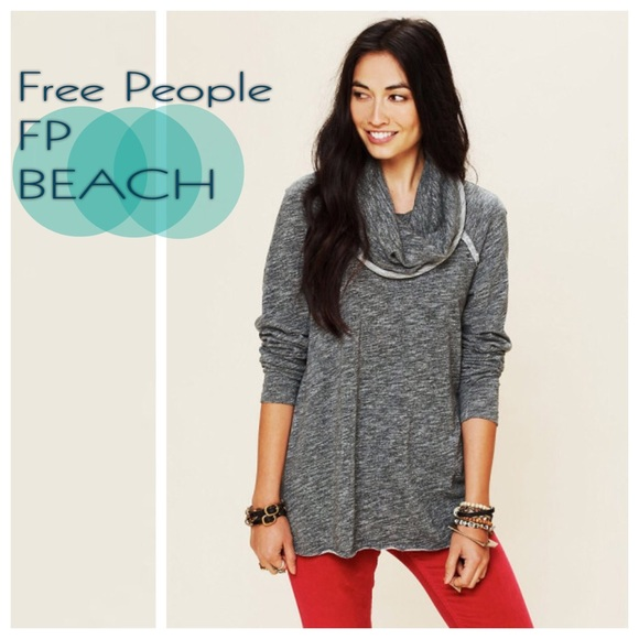 a94fff7f6e6df Free People Tops - Free People 'Beach Cocoon' Cowl Neck Pullover