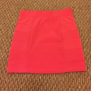 Bright pink mini skirt from H&M